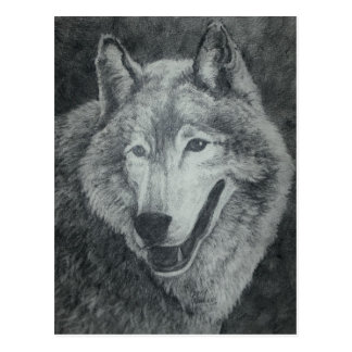オオカミの芸術 ポストカード