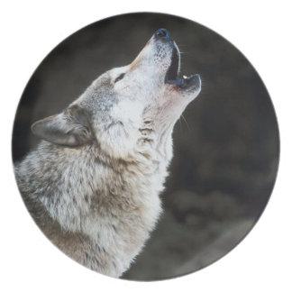 オオカミの装飾的なプレート プレート