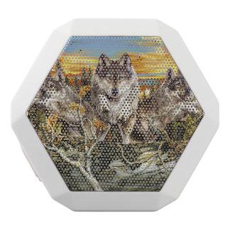 オオカミの走ることパック ホワイトBluetoothスピーカー