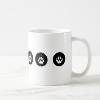 オオカミの足のマグ コーヒーマグカップ