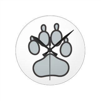 オオカミの足 ラウンド壁時計
