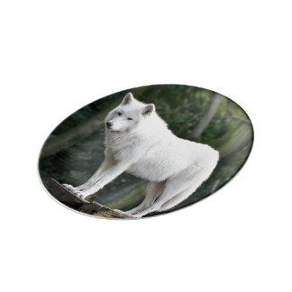 オオカミの野性生物の磁器皿 磁器プレート