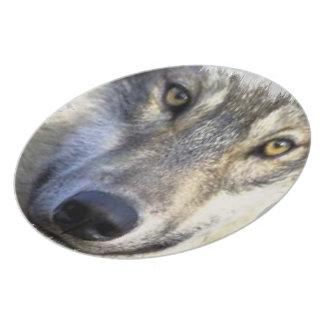 """オオカミの面板10"""" プレート"""