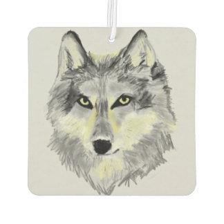 オオカミの頭部 カーエアーフレッシュナー