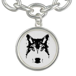 オオカミの頭部 チャームブレス