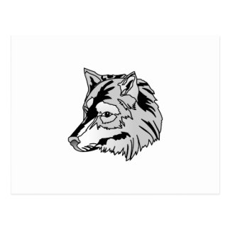 オオカミの頭部 ポストカード