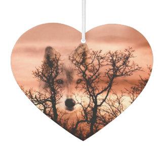 オオカミの顔のトーテム カーエアーフレッシュナー