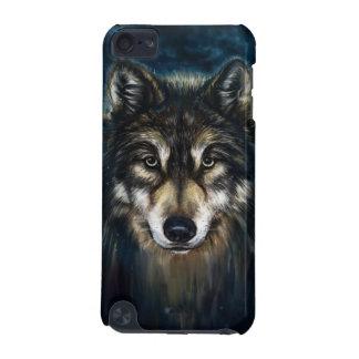 オオカミの顔のipod touch芸術的な5Gの場合 iPod Touch 5G ケース