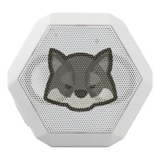 オオカミの顔 ホワイトBluetoothスピーカー