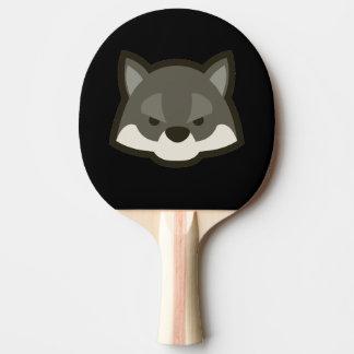 オオカミの顔 卓球ラケット