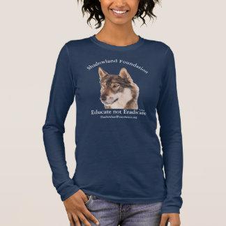 オオカミのTシャツ 長袖Tシャツ