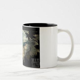 オオカミはマグを注目します ツートーンマグカップ