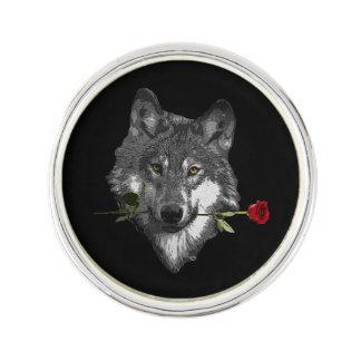 オオカミは上がりました ラペルピン