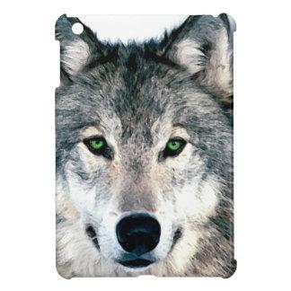 オオカミは野生の自然のアニマルプリントを注目します iPad MINI CASE