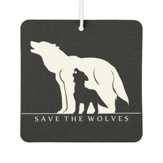 オオカミを救って下さい カーエアーフレッシュナー