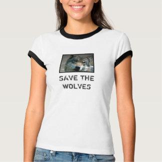 オオカミを救って下さい Tシャツ
