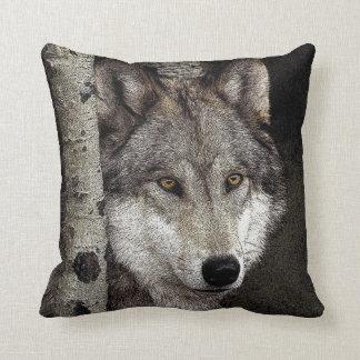 オオカミインク芸術の枕 クッション