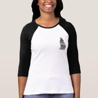 オオカミパターン野球のワイシャツ Tシャツ