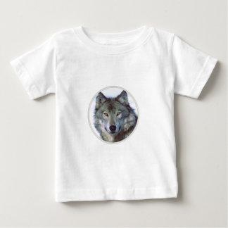 オオカミ動物のトーテム ベビーTシャツ