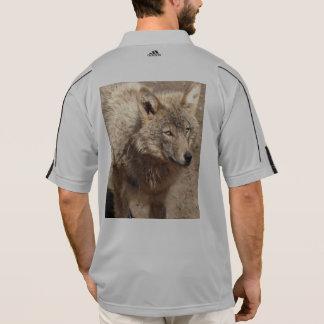 オオカミ動物の平和愛自然公園のオオカミの運命 ポロシャツ