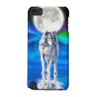 オオカミ及びオーロラの野性生物のIpod touchの場合 iPod Touch 5G ケース