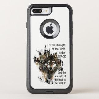 オオカミ及びパック家族の感動的な引用文 オッターボックスコミューターiPhone 8 PLUS/7 PLUSケース