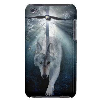 オオカミ及びワシの野性生物の芸術の電話箱 Case-Mate iPod TOUCH ケース