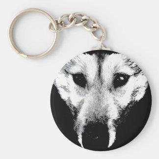 オオカミ子犬のKeychainの野生の犬の記念品及びギフト キーホルダー
