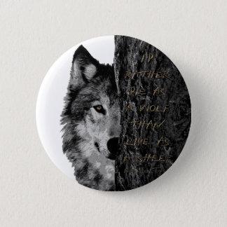 オオカミ対ヒツジ 5.7CM 丸型バッジ