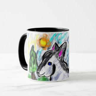 オオカミ愛太陽 マグカップ