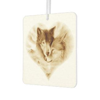 オオカミ愛 カーエアーフレッシュナー