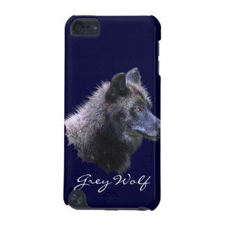 オオカミ野性生物サポータIPodの野生の黒い箱 iPod Touch 5G ケース