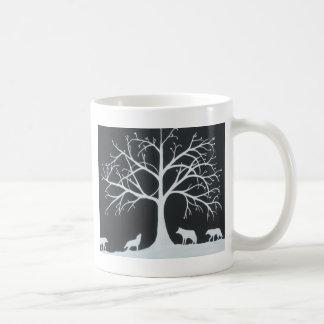 オオカミ食 コーヒーマグカップ
