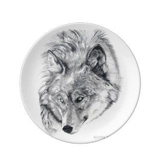 """""""オオカミ""""の装飾的な磁器皿 磁器プレート"""