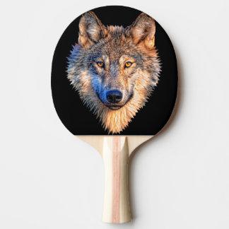 オオカミ-オオカミの顔 卓球ラケット