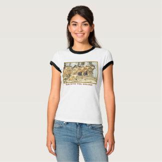 オオカミ、オオカミ大きいパックの写真と走って下さい Tシャツ