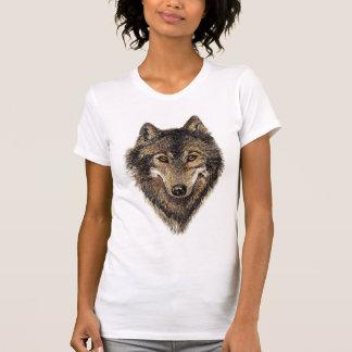 オオカミ、オオカミ、野生動物、自然、 Tシャツ