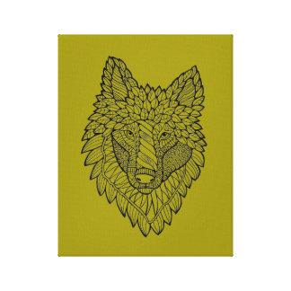 オオカミ キャンバスプリント