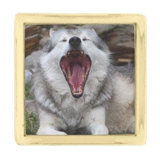 オオカミ ゴールド ラペルピン