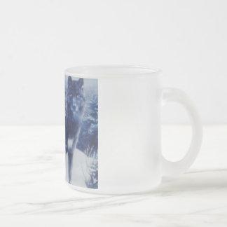 オオカミ フロストグラスマグカップ