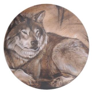 オオカミ プレート