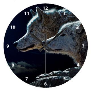 オオカミ ラージ壁時計