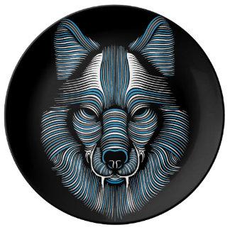 オオカミ 磁器プレート