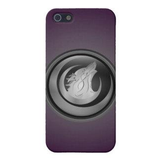 オオカミ 紫色 iPhone 5 カバー