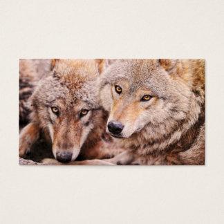 オオカミ- 2012小型のカレンダー 名刺
