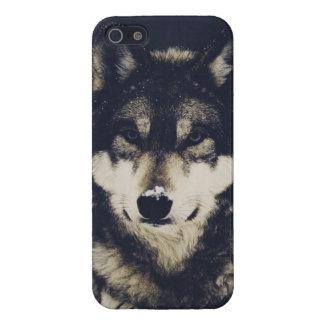 オオカミ iPhone 5 カバー