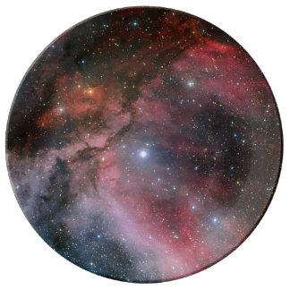 オオカミRayetの星WR 22のまわりのカリーナの星雲 磁器プレート