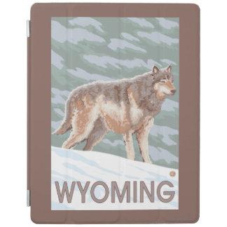オオカミStandingWyoming iPadスマートカバー