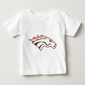 オオシカの川の第6等級の白のムスタング ベビーTシャツ