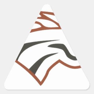 オオシカの川の第6等級の白のムスタング 三角形シール